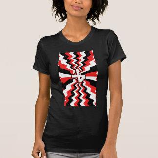 Camiseta Explosão vermelha, preta, & branca do ziguezague