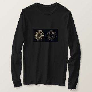 Camiseta Exposição do fogo-de-artifício, luva longa