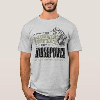 Camiseta Exposição pública dos cavalos-força