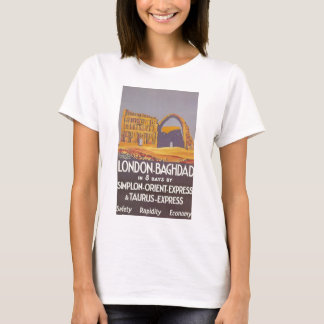 Camiseta Expresso de oriente do simplon de Londres Bagdade