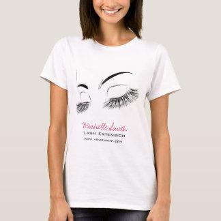 Camiseta Extensão longa bonita do chicote das pestanas