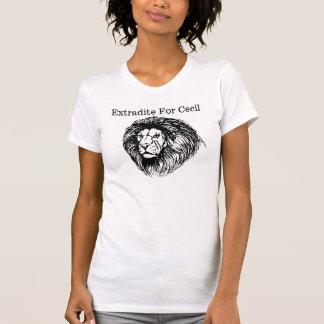Camiseta Extradite para Cecil o leão
