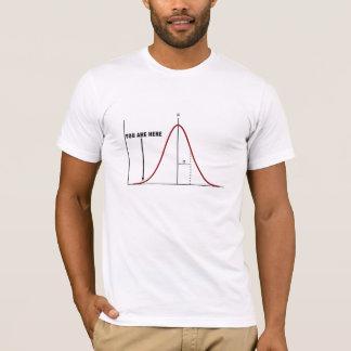 Camiseta Extremidade errada do t-shirt da curva do sino