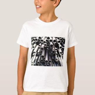 Camiseta extremidades do tubo do metal