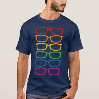 Camiseta Eyeglasses do arco-íris