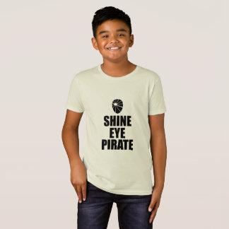 Camiseta Eyepatch do pirata do olho do brilho. Texto escuro