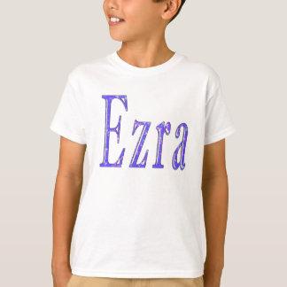 Camiseta Ezra, _Name, _Logo, T-camisa do branco dos _Boys