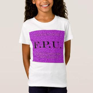 Camiseta F.P.U. graduado Fada princesa universidade 1