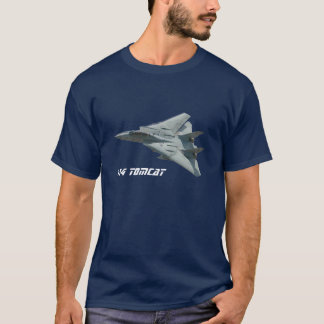 Camiseta F - t-shirt do avião de combate de 14 Tomcat