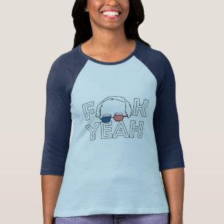 Camiseta F yeah Bernie - máquinas de lixar de Bernie para o