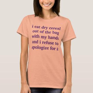 Camiseta fã do cereal seco