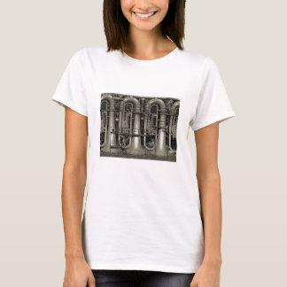 Camiseta Fábrica da música da tuba de Steampunk