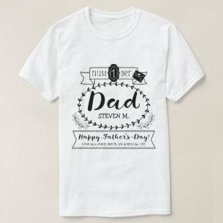 Camiseta Faça a seu próprio número do dia dos pais 1