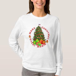 Camiseta Faça a trunfo do excelente do Natal outra vez o