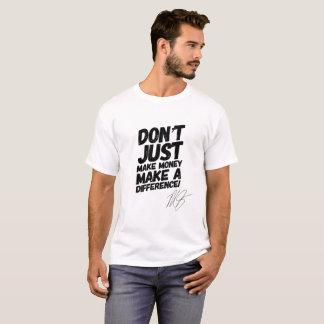 Camiseta Faça a uma diferença o T inspirador do t-shirt