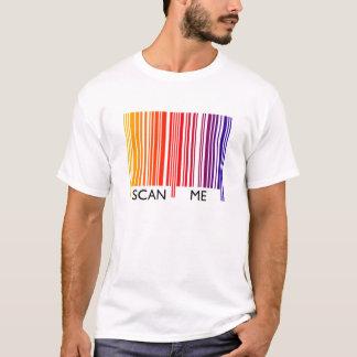 Camiseta Faça a varredura de me código de barras colorido