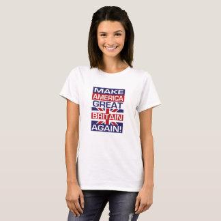 Camiseta Faça América Grâ Bretanha outra vez! - Branco da