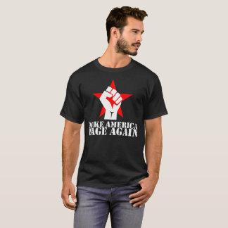 Camiseta Faça América Rage outra vez letras do branco da