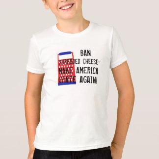 Camiseta Faça América raspar outra vez o humor engraçado do