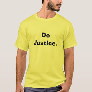 Camiseta Faça justiça