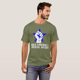 Camiseta Faça letras do branco da T-Camisa do liberal de