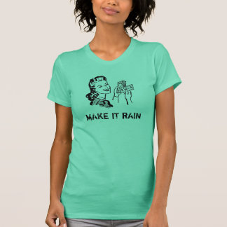 Camiseta Faça-lhe o t-shirt da chuva