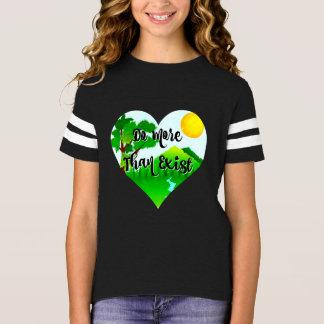 Camiseta Faça mais do que existem coração inspirado das