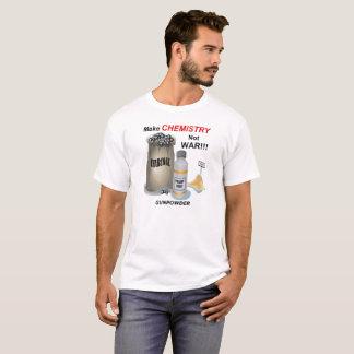 Camiseta Faça o T da guerra da química não