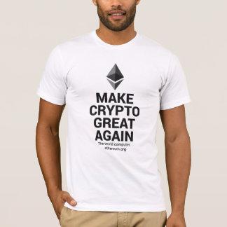 Camiseta Faça o t-shirt cripto do éter do excelente outra