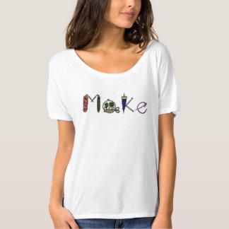 Camiseta Faça o t-shirt para fabricantes, artesões,