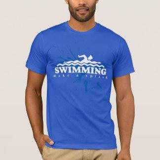 Camiseta Faça um t-shirt da natação do respingo