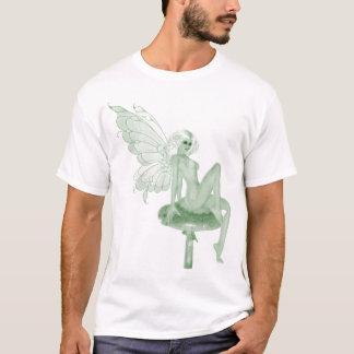 Camiseta Fada 2A do verde da assinatura da arte do absinto