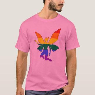 Camiseta Fada alegre do arco-íris