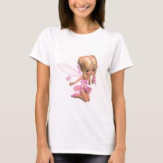 Camiseta Fada bonito da bailarina de Toon no rosa -