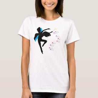 Camiseta Fada com varinha/t-shirt das estrelas