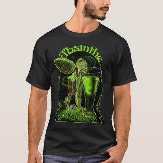 Camiseta Fada de Verte da taxa do La do absinto com vidro