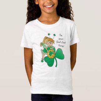 Camiseta Fada do irlandês do dia de St Patrick da boa sorte