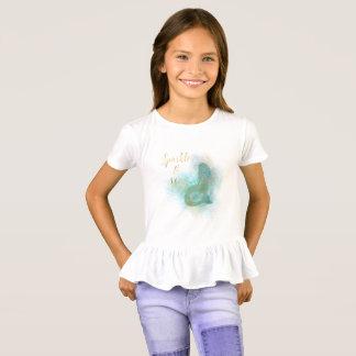 Camiseta Faísca da sereia do ouro do Aqua