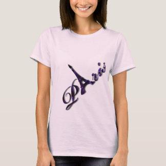 Camiseta Faísca do brilho do Sequin da torre Eiffel de