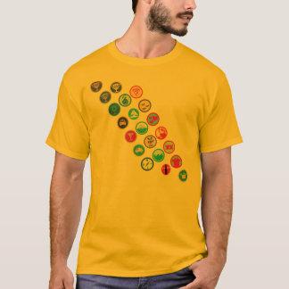 Camiseta faixa do Menino-escuteiro