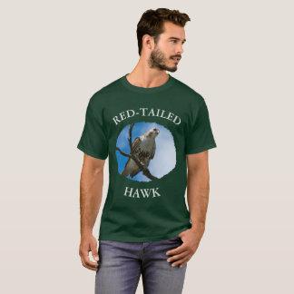 Camiseta Falcão no t-shirt escuro básico dos homens da caça