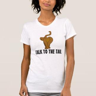 Camiseta Fale à cauda, t-shirt engraçados do gato