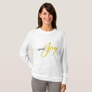Camiseta Fale o T da alegria