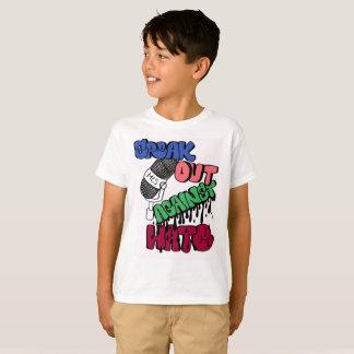 Camiseta Fale para fora contra o t-shirt dos miúdos do ódio
