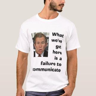 Camiseta Falha comunicar-se