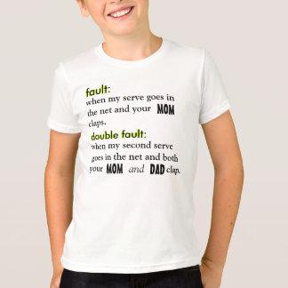 Camiseta FALHA pelo tênis do lago