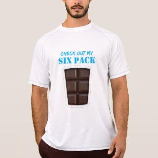 Camiseta Falsificação seis Abs do bloco (chocolate)