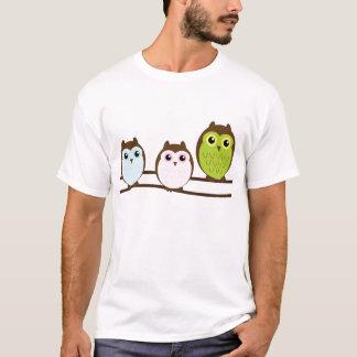 Camiseta Família bonito da coruja