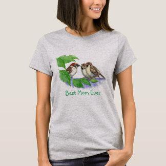 Camiseta Família de pássaro bonito do melhor pardal das