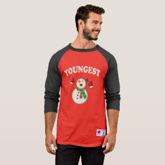 Camiseta Família do pijama do t-shirt do boneco de neve do